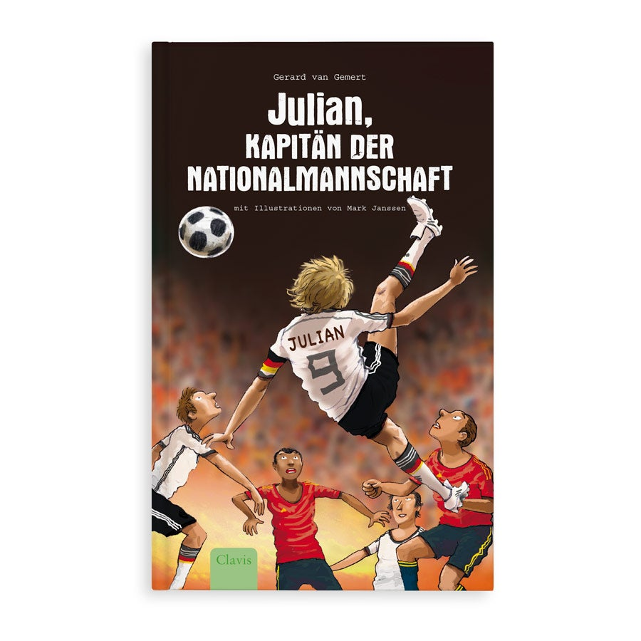 Jugendbuch mit Namen - Kapitän der Nationalmannschaft - Softcover