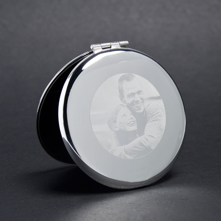 Make-up spiegel (gegraveerd)