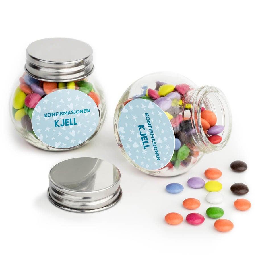 Sjokolader i glasskrukke - sett med 10