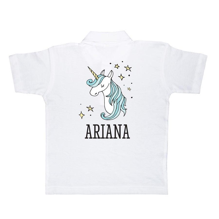 Camisa polo - Crianças - Branco - 4 anos