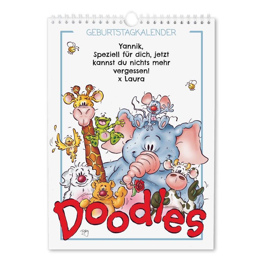 Doodles Geburtstagskalender - A4
