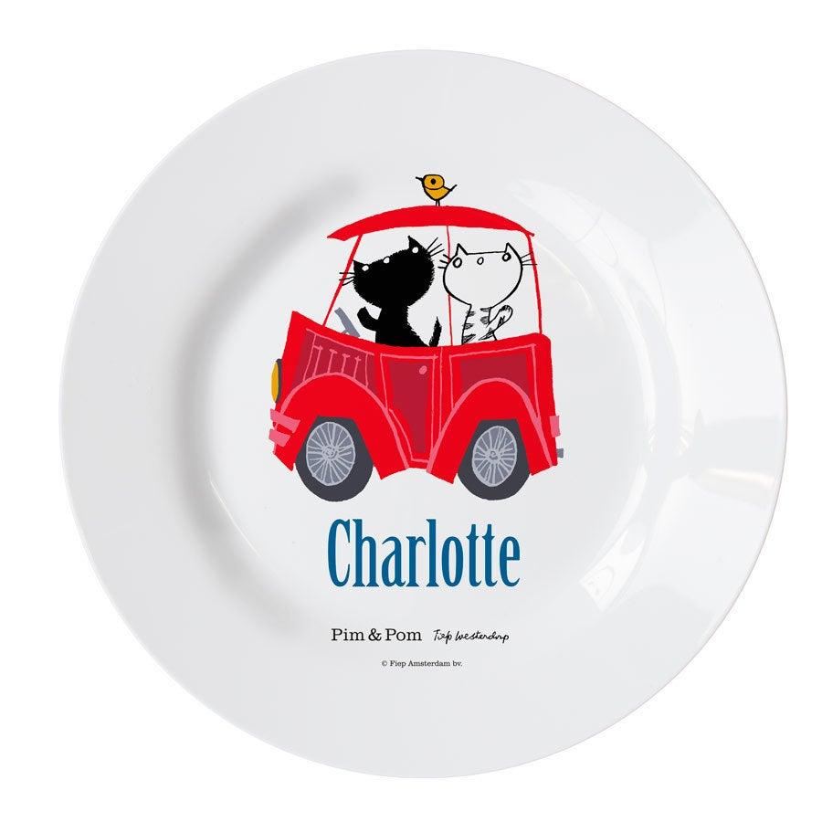 Pim & Pom Børns tallerken - Bil (4)