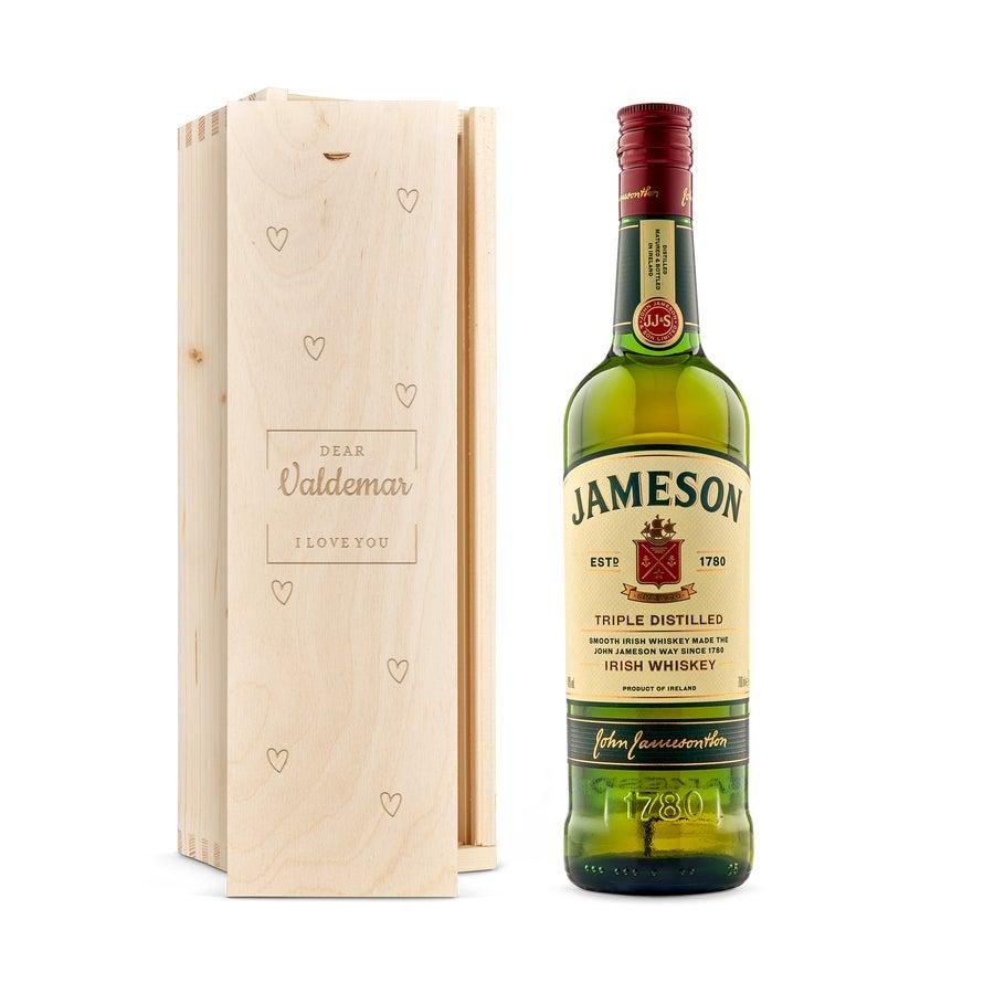 Whisky i indgraveret æske – Jameson