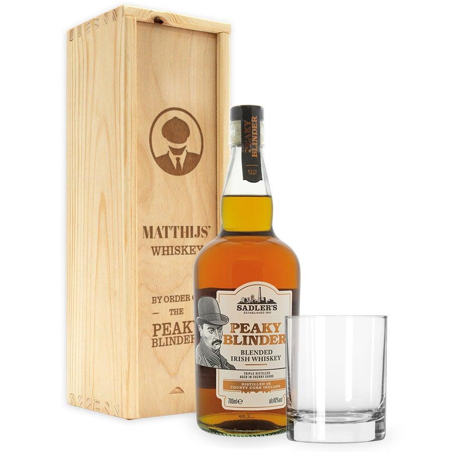 Peaky Blinders whiskeypakket - met gegraveerde kist