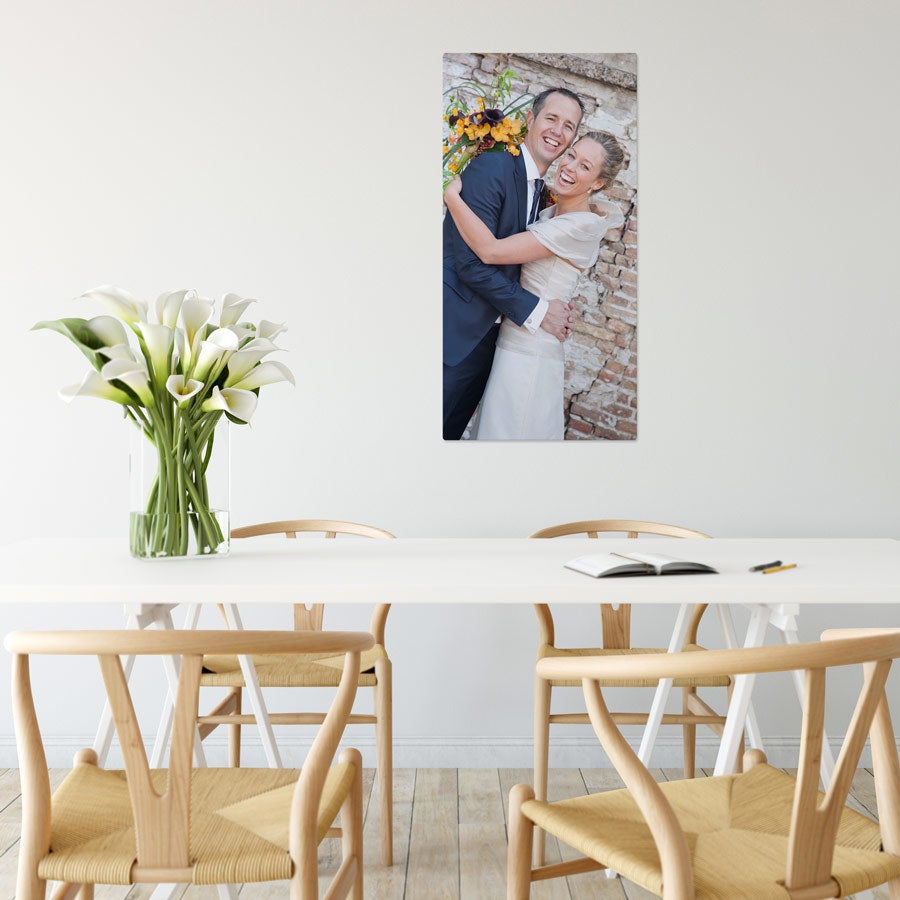 Foto op aluminium afdrukken - Wit (ChromaLuxe) - 40 x 80 cm