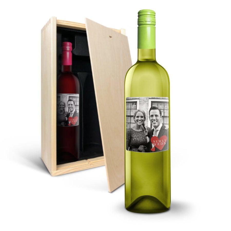 Wijnpakket met etiket - Oude Kaap - Wit en rood