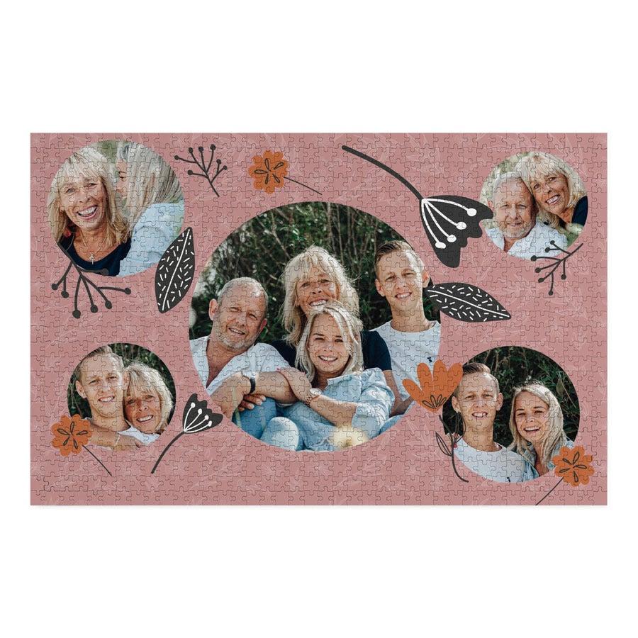 Puzzle personalizado de 1000 piezas - Día de la Madre