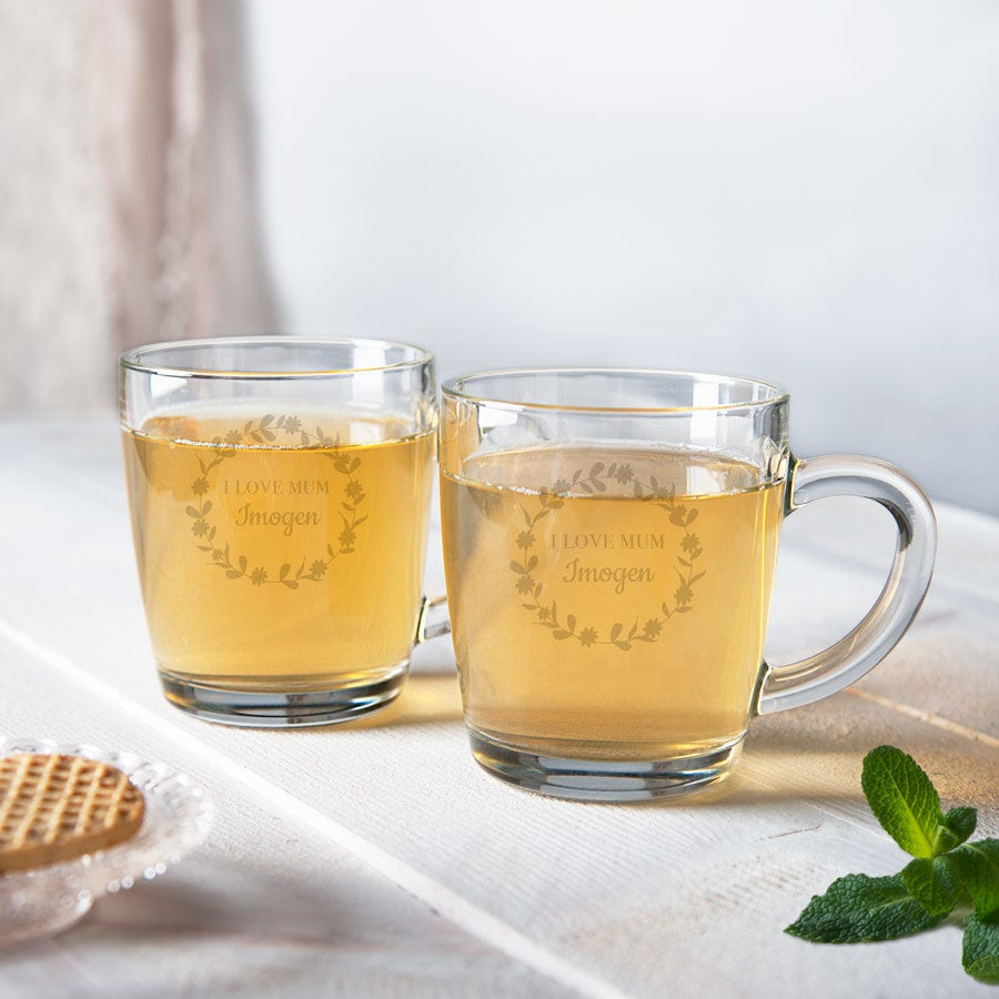 Tazza da tè per la festa della mamma - Vetro (2 pezzi)
