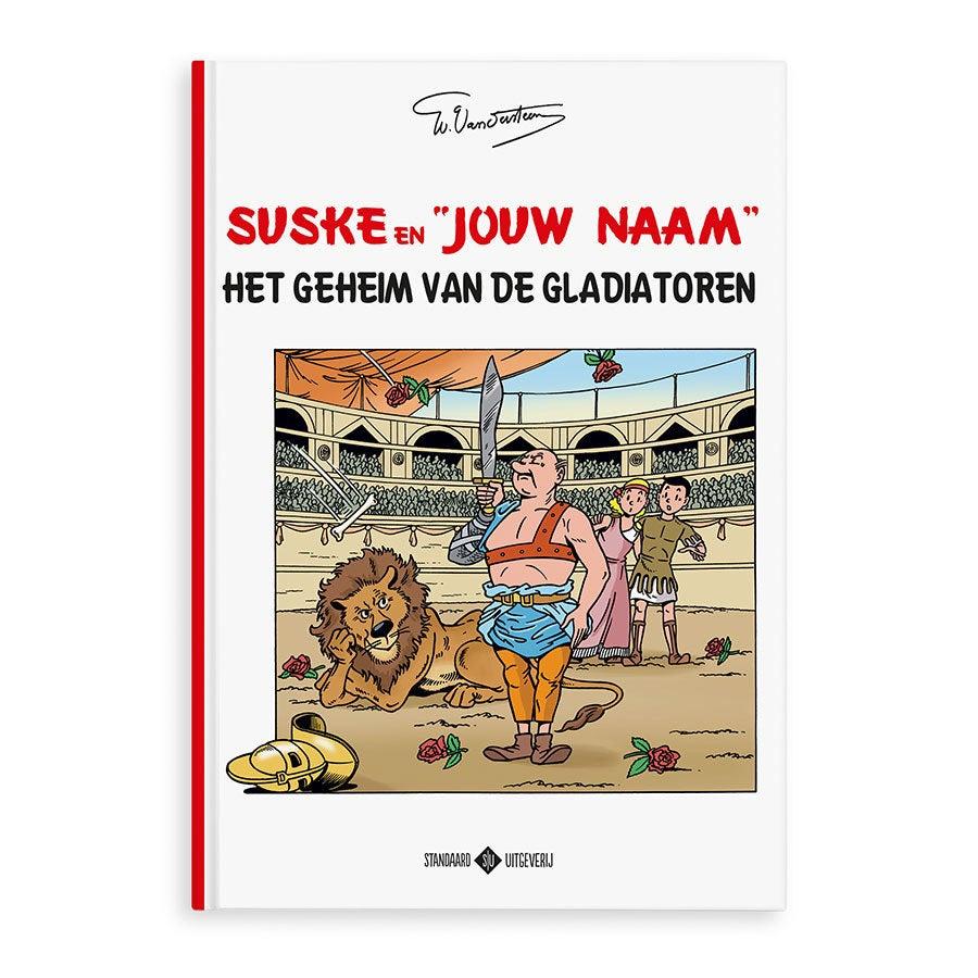 Persoonlijk stripboek - Suske en Wiske 'Het geheim van de gladiatoren' (Hardcover)