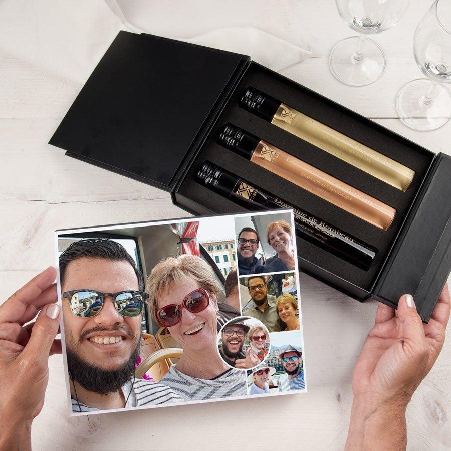 Coffret cadeau dégustation vin - 3 tubes