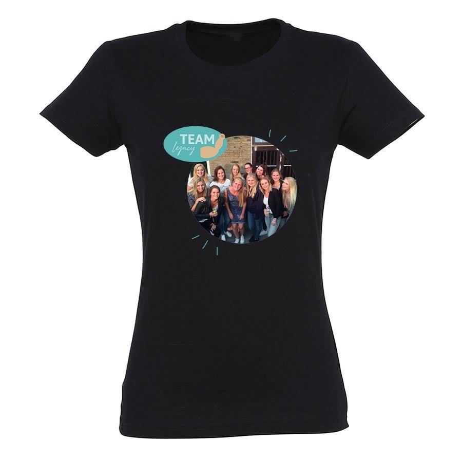 T-shirt voor vrouwen bedrukken - Zwart - S