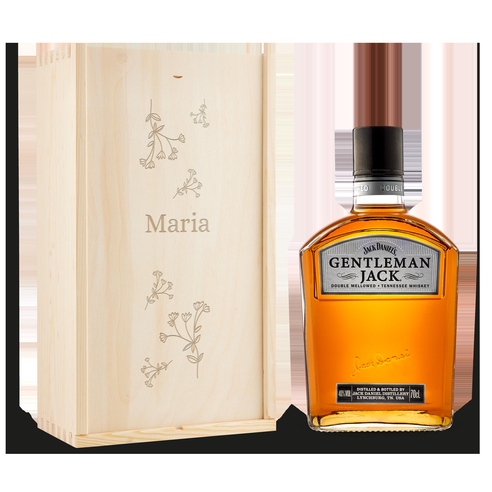 Individuellleckereien - Jack Daniels Gentleman Jack in gravierter Kiste - Onlineshop YourSurprise