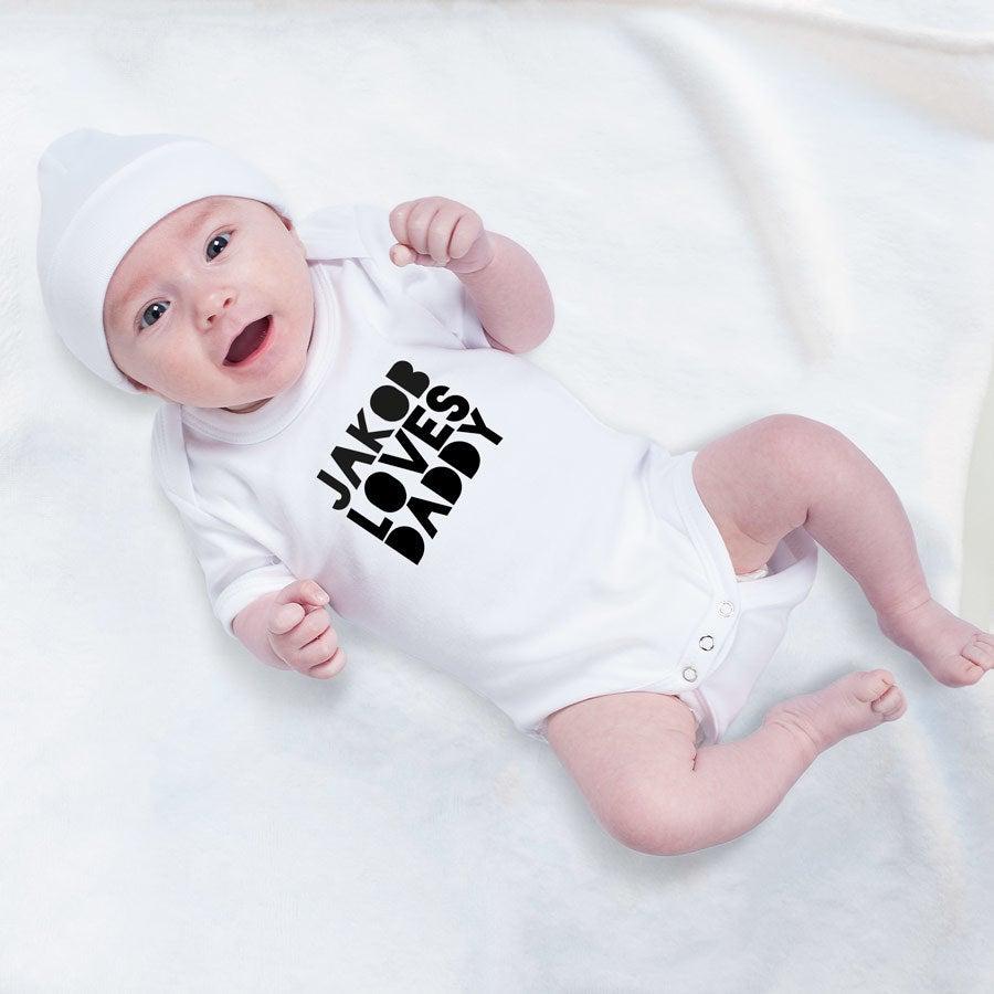 Individuellbabykind - Baby Body 1. Vatertag weiß 50 56 - Onlineshop YourSurprise