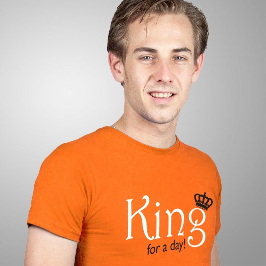 T-shirt - Man Regular Oranje S