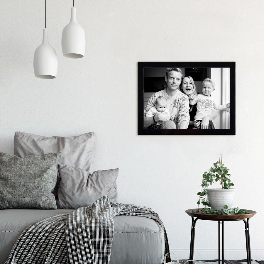Glazen fotolijst met foto maken - 40x30 cm