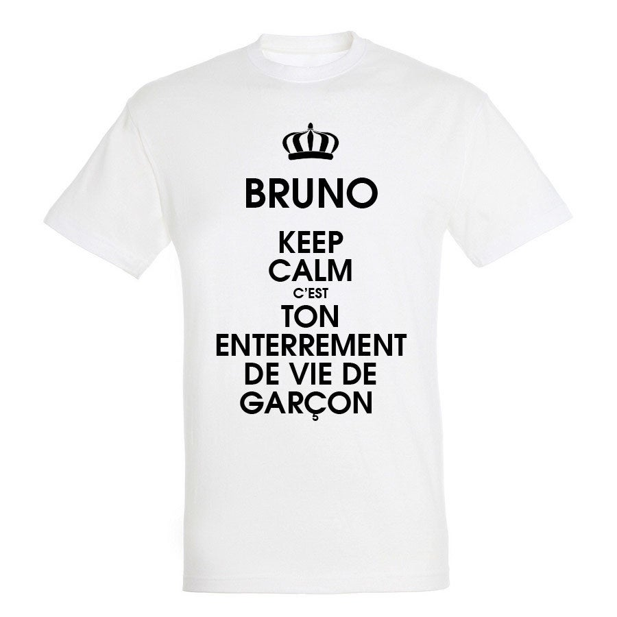 T-shirt - Homme - Blanc - S