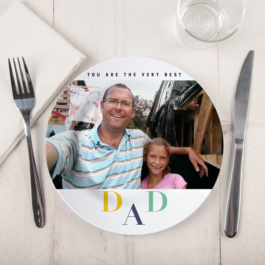 Father's Day plate