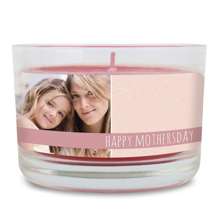 Vela perfumada do dia das mães - Apple