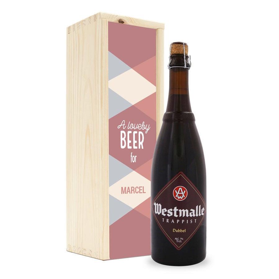 Botella de cerveza en caja personalizada - Westmalle - Dubbel