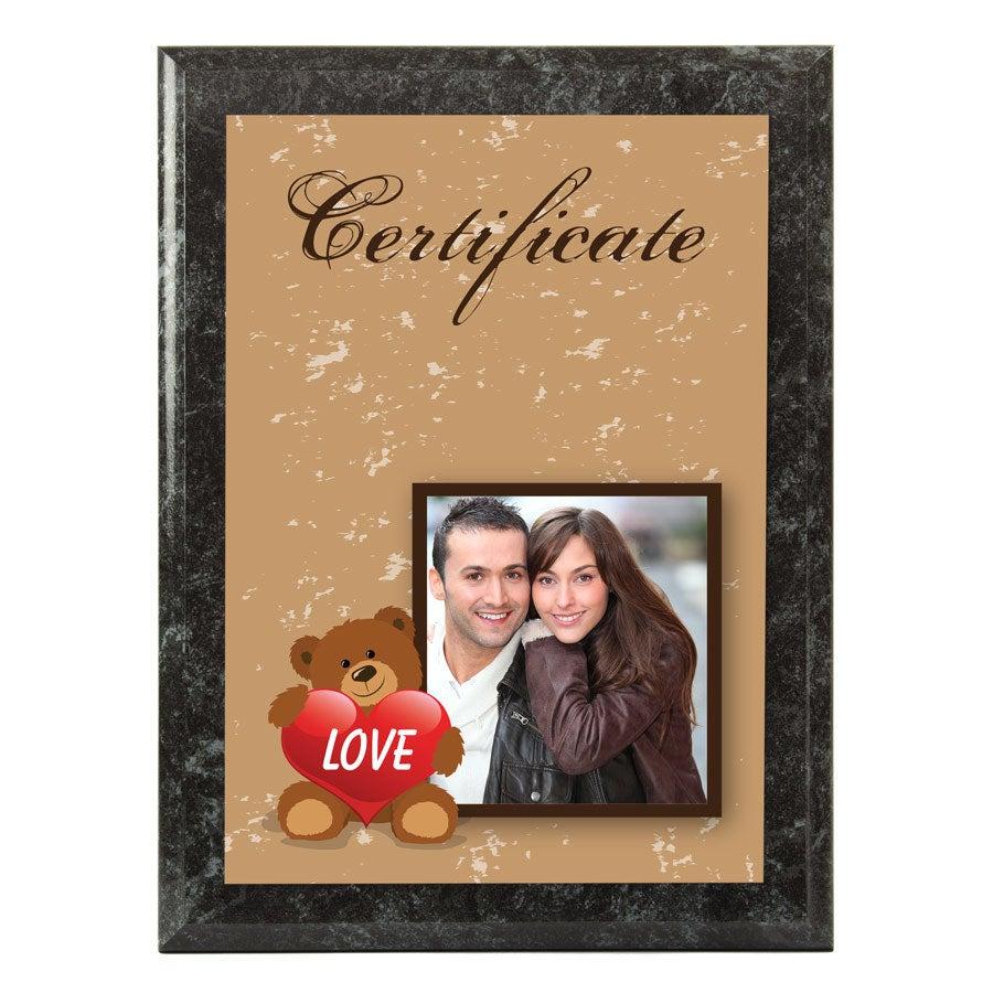 Certifikát - Mramorový vzhľad