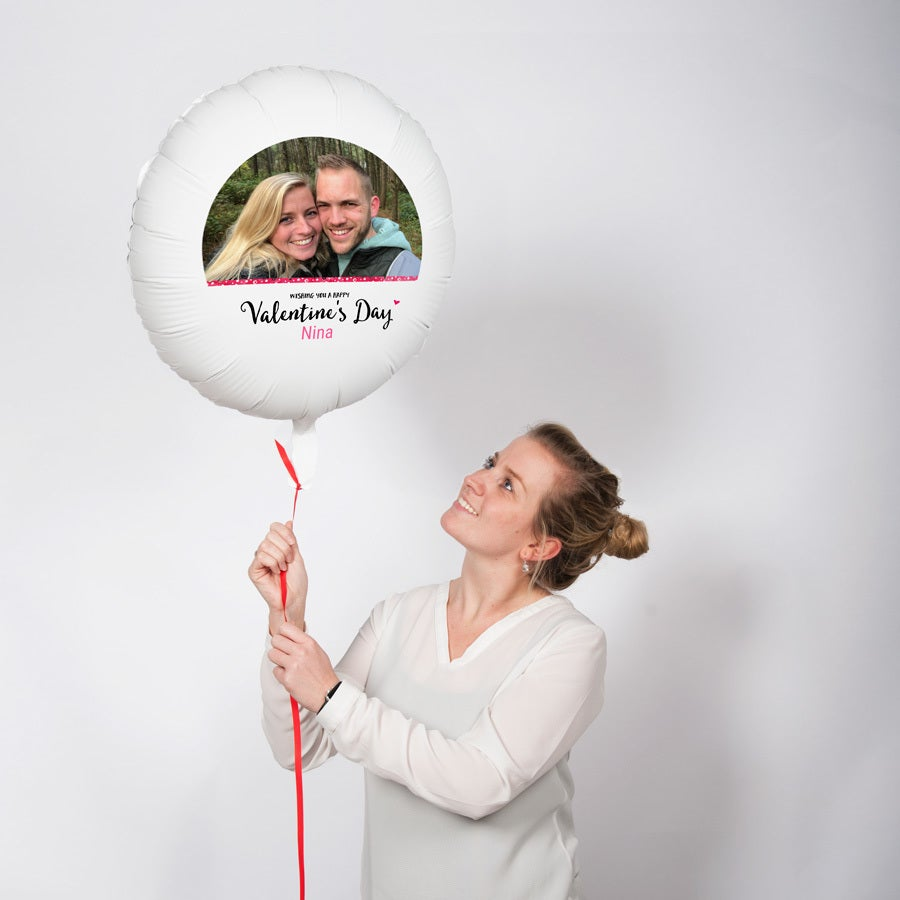 Ballon mit Foto - Valentinstag