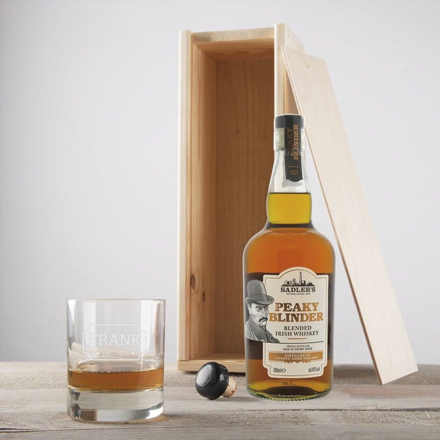 Whisky Set - Peaky Blinder – mit graviertem Glas