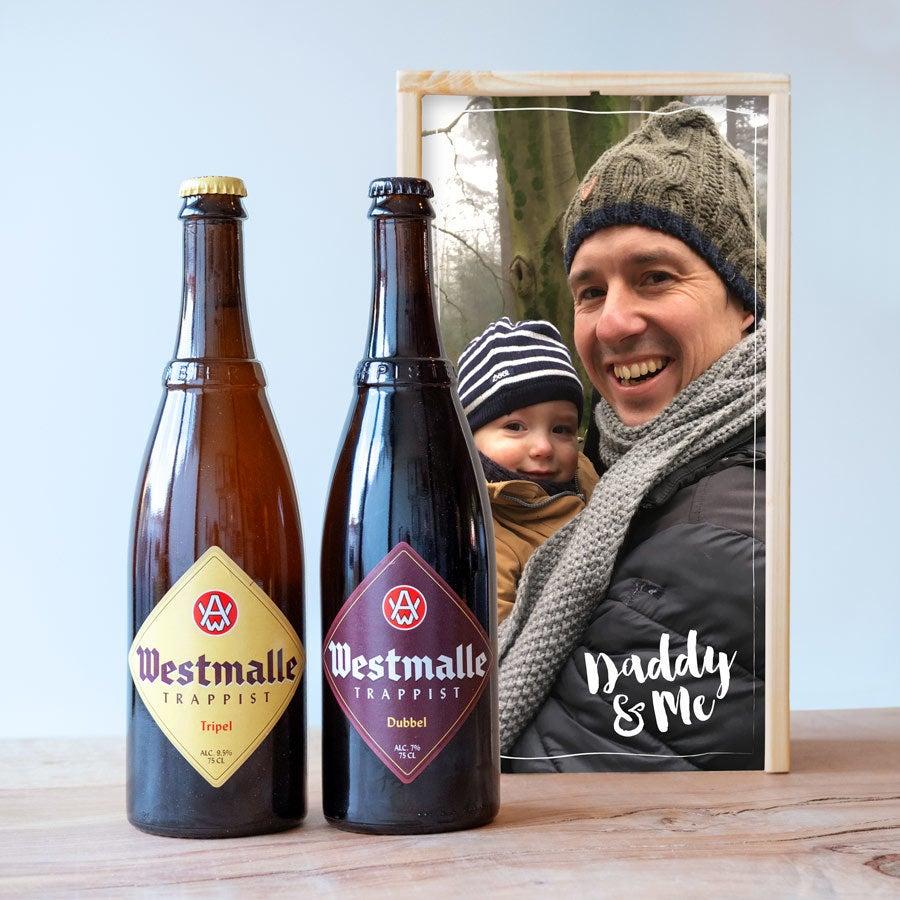 Cerveza para Día del Padre en caja de madera - Westmalle