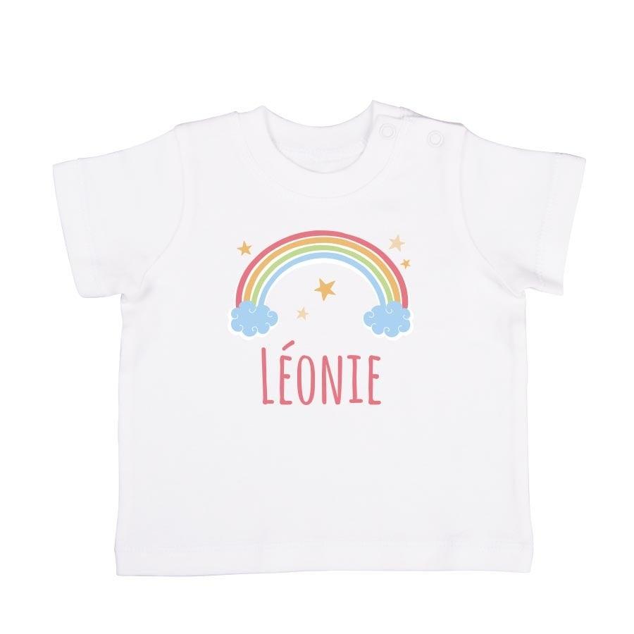 T-shirt bébé - Manches courtes - Blanc - 62/68