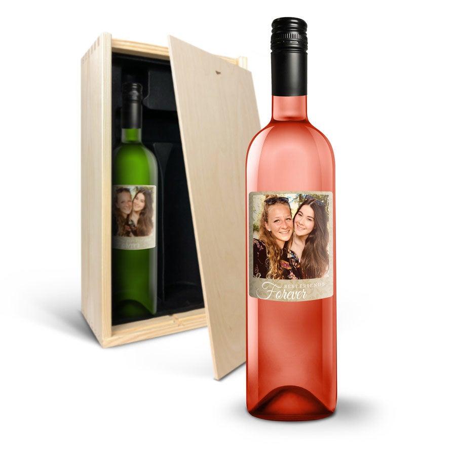 Wijnpakket met etiket - Belvy - Wit en rosé