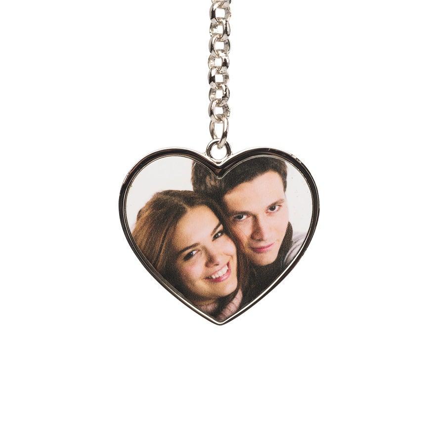 Individuellfotogeschenke - Herzschlüsselanhänger mit Foto beidseitig bedruckt - Onlineshop YourSurprise