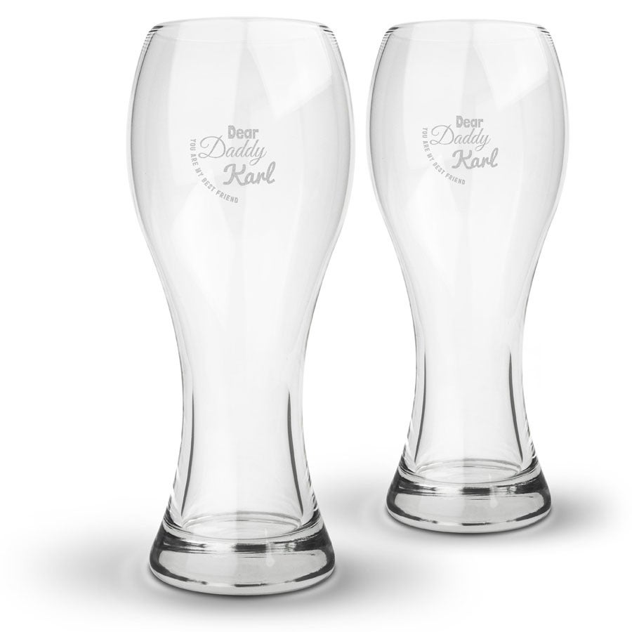 Gravírovaný pohár na pivo - Pre otcov (2 kusy)