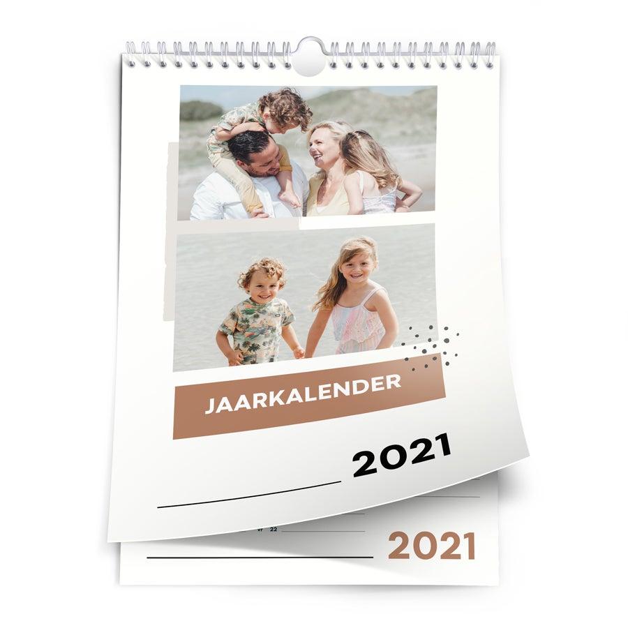 Jaarkalender 2021 - A4 - enkelzijdig - staand