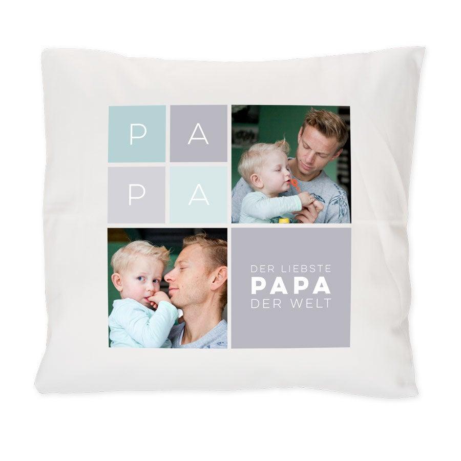 Individuellwohnzubehör - Vatertag Kissen Weiß - Onlineshop YourSurprise