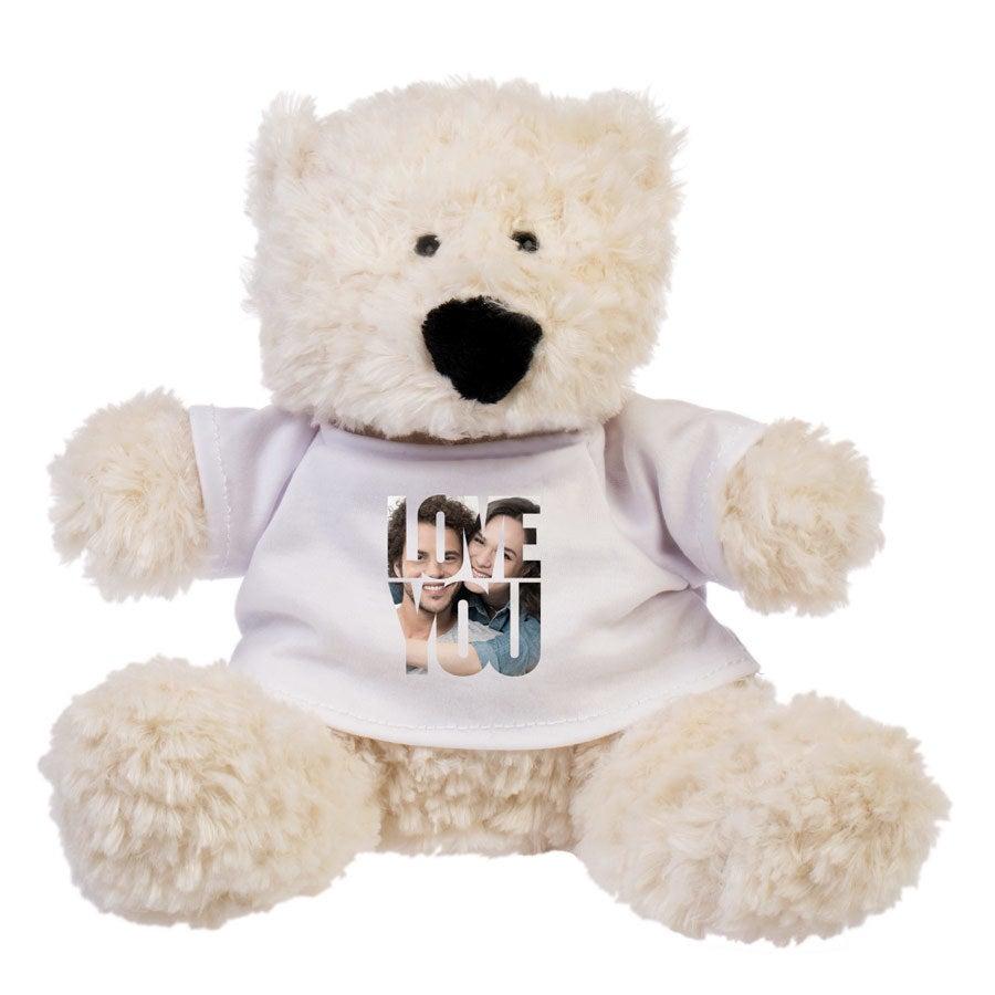 Peluche con camiseta personalizada - Oso Bobby