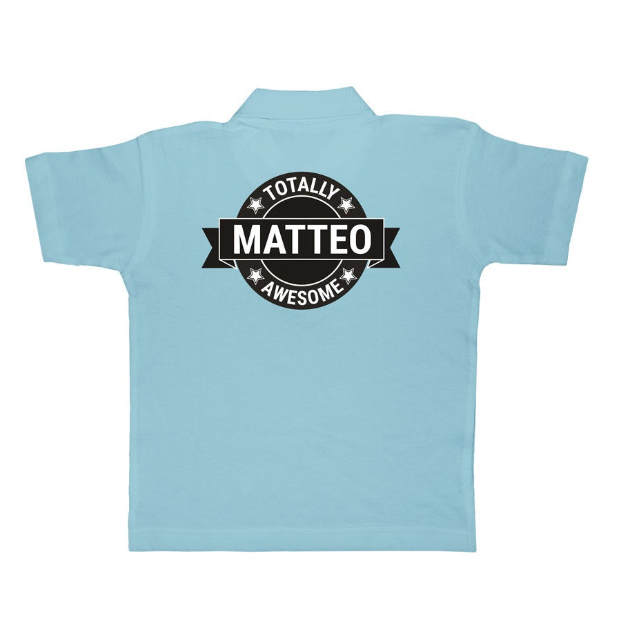 Kinder Poloshirt - Blau - 4 Jahre