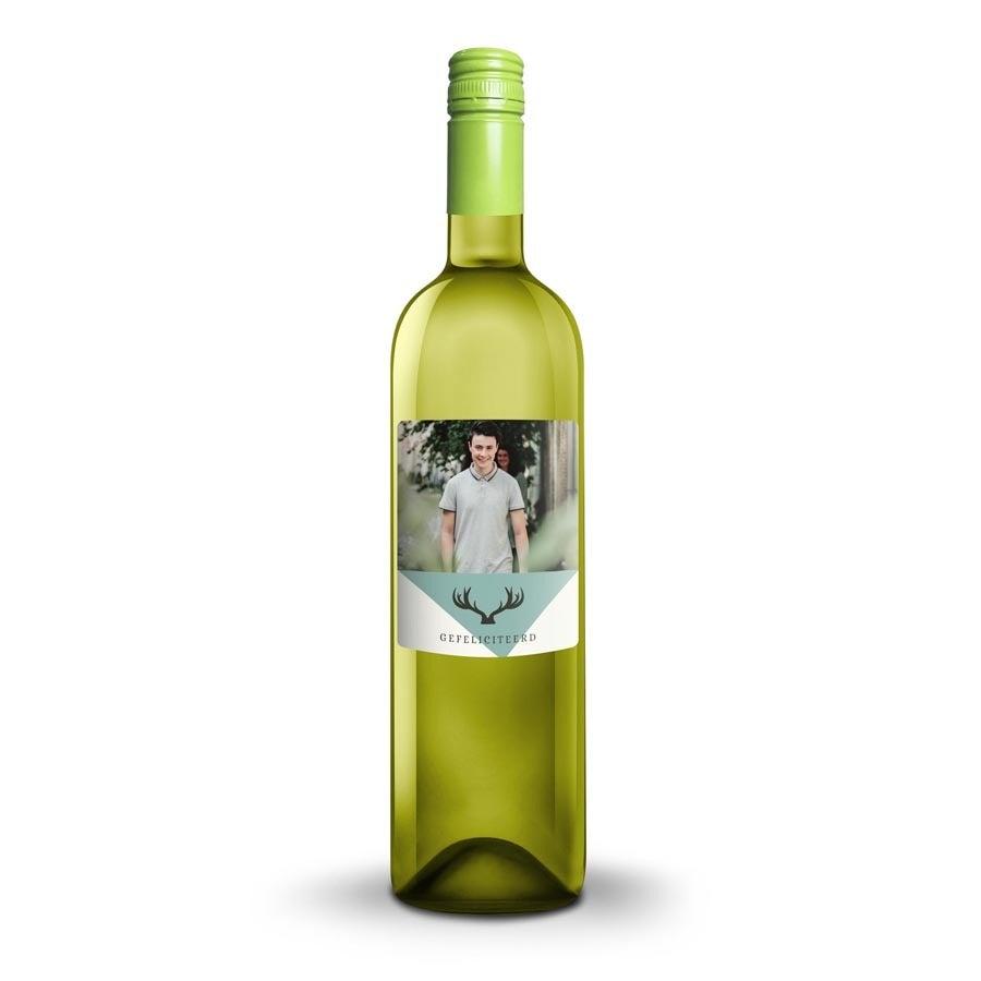 Wijn met bedrukt etiket - Oude Kaap - Wit