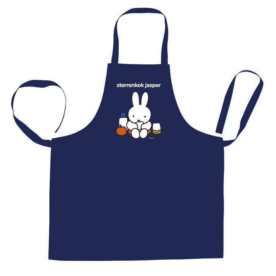 nijntje keukenschort bedrukken - Blauw