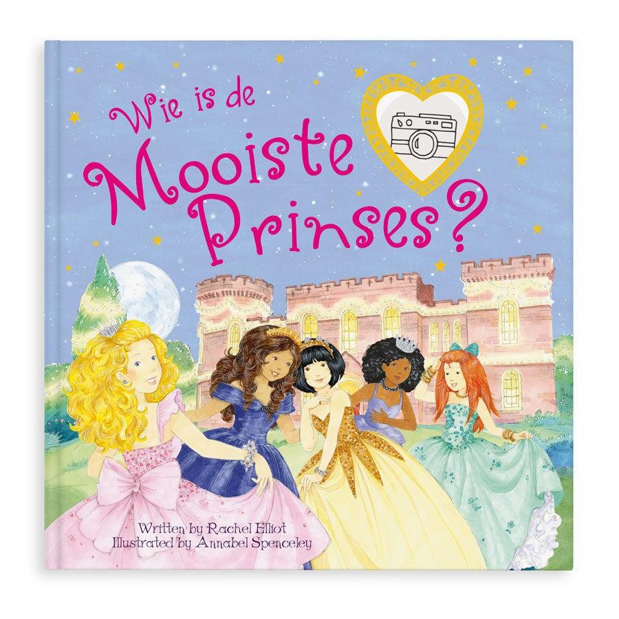 Boek met naam, foto, haar- en oogkleur - Wie is de mooiste prinses? - Hardcover