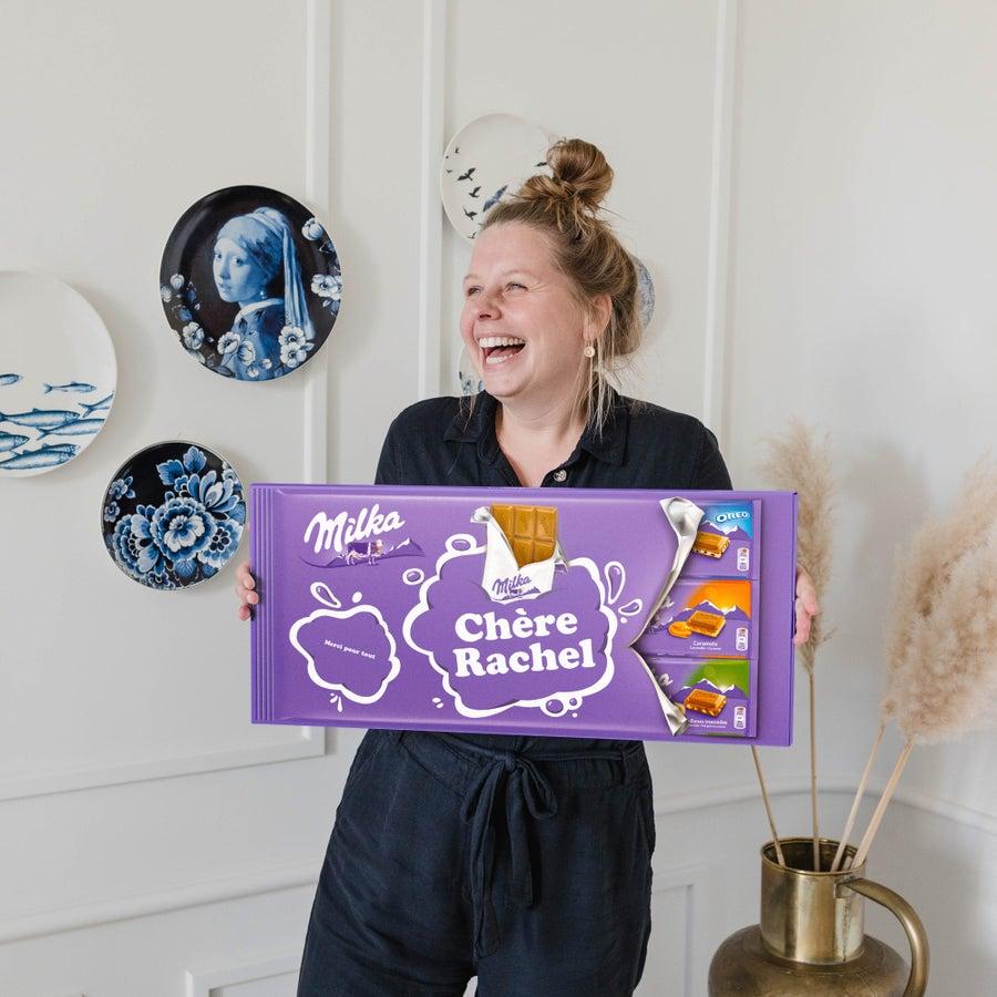 Méga tablette de chocolat Milka avec prénom