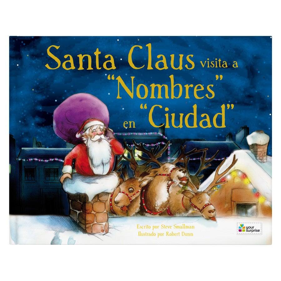 Libro de Navidad con nombre - Santa Claus viene de visita - Tapa dura