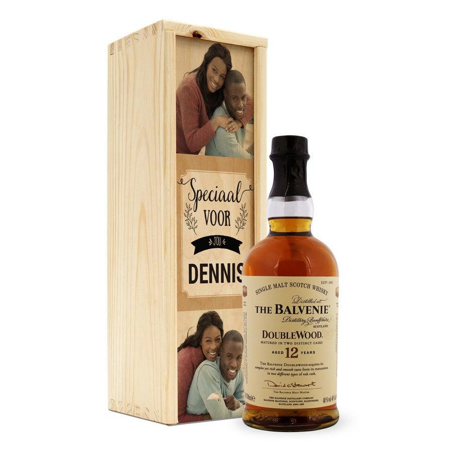 Whisky in bedrukte kist - The Balvenie
