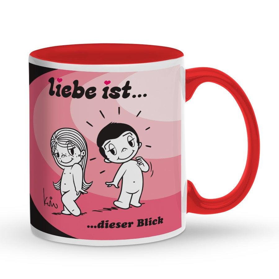 Individuellküchenzubehör - Tasse mit Namen Rot Liebe ist ... - Onlineshop YourSurprise