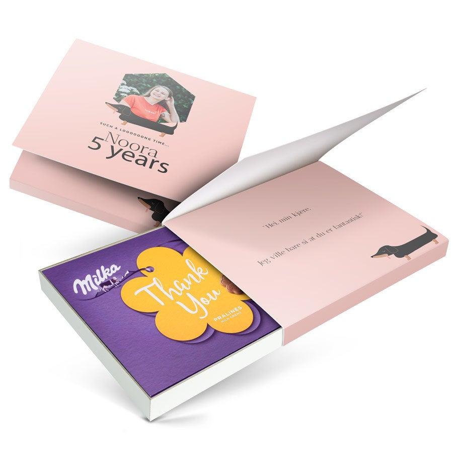 I love Milka! gaveeske - Bare fordi- 110 gram