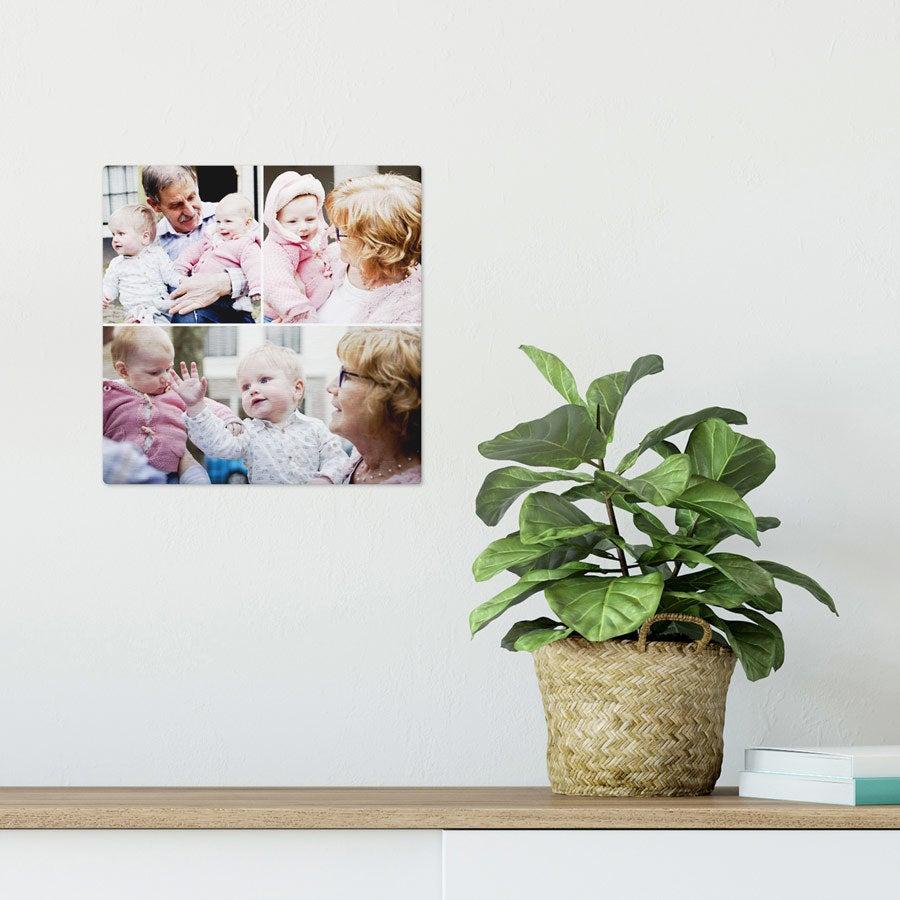 ChromaLuxe alumiininen valokuvapaneeli - Harjattu (20x20cm)