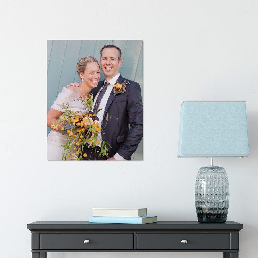 Foto op aluminium afdrukken - Wit (ChromaLuxe) - 40 x 50 cm