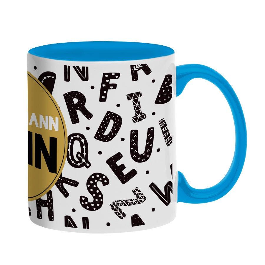 Tassen beschriften - Tasse mit Text - Blau