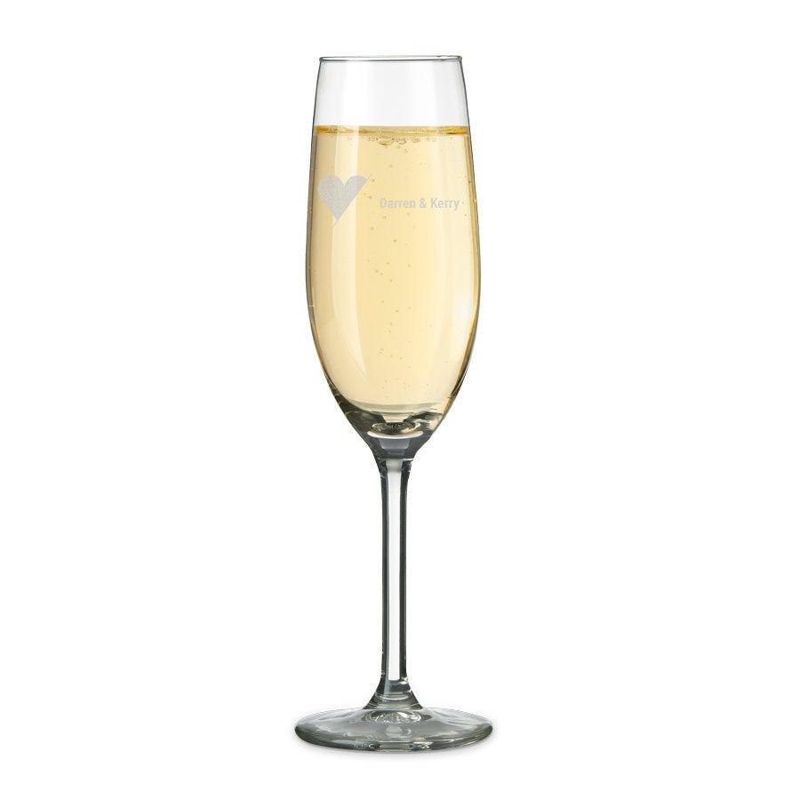 Champagneglas med navn