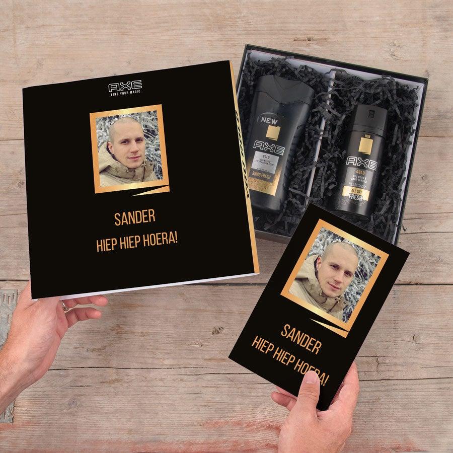 Axe geschenkset - Bodywash & deodorant + bullet journal (Gold)