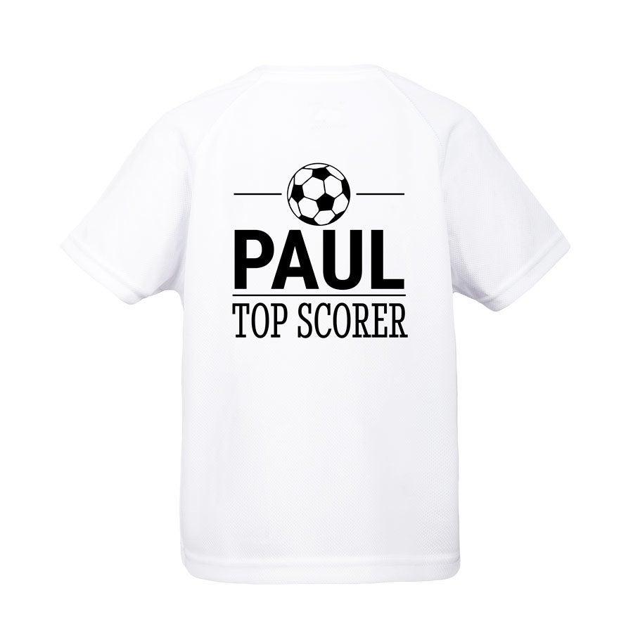 Kids sport t-shirt - Hvid - 4 år