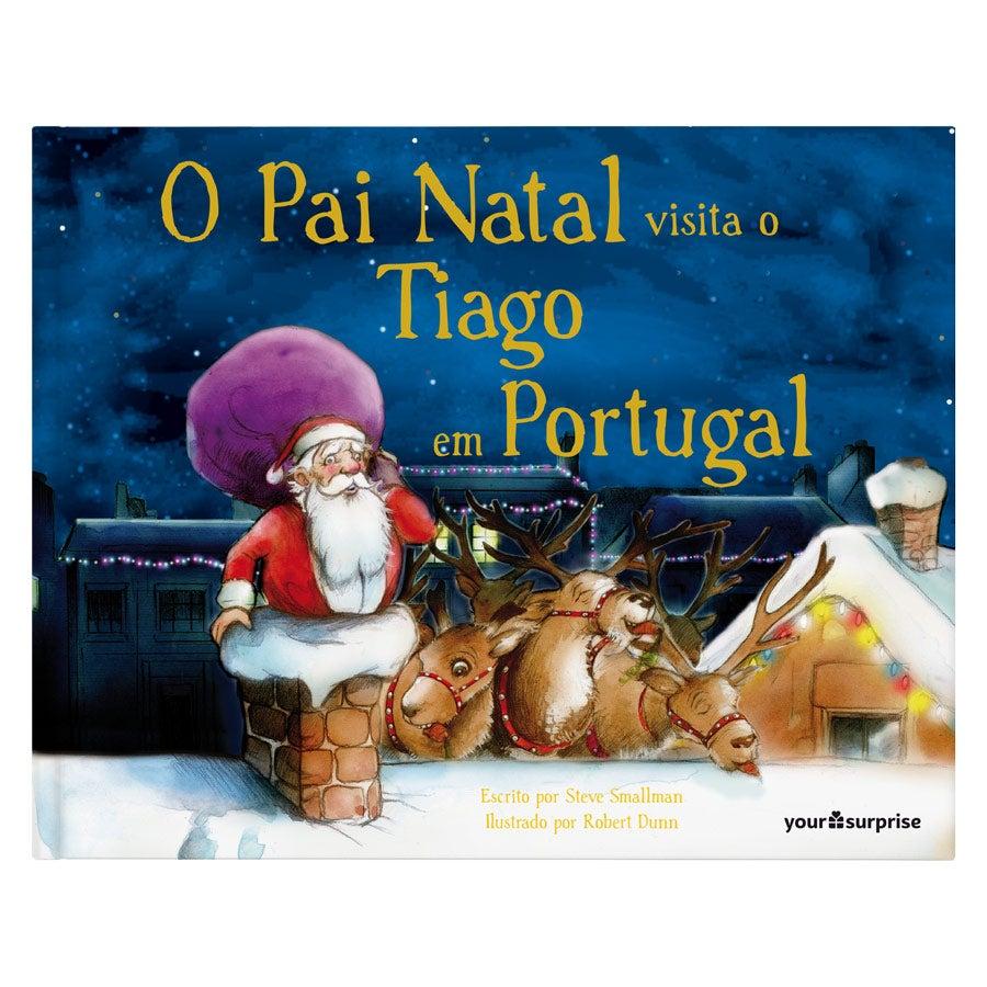 Livro personalizado - O Pai Natal está a caminho - Capa dura